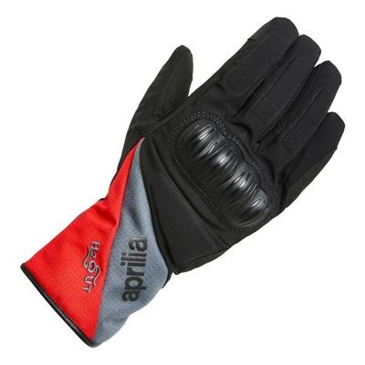 Gants textile hiver Aprilia noir/rouge/gris