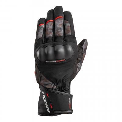 Gants textile Ixon Pro Russel noir camo/rouge