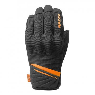 Gants textile Racer Roca 2 noir/orange