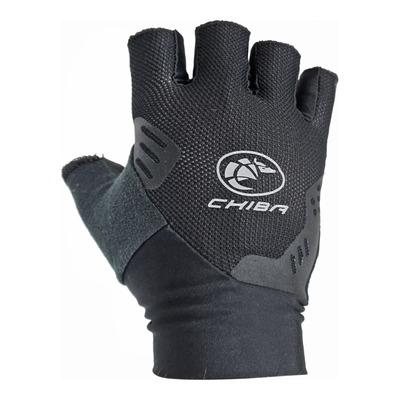 Gants vélo Chiba Team Glove courts noirs