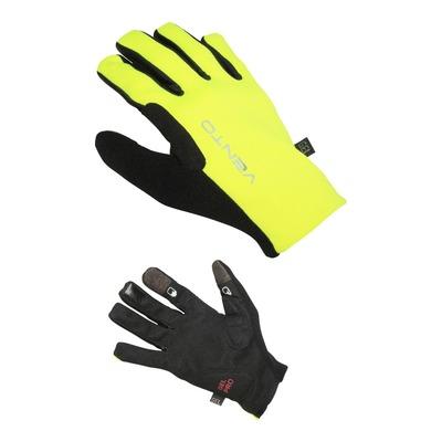 Gants VTT Vento longs jaunes fluo/noirs (Taille S)