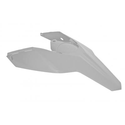 Garde boue arrière et plaques latérales RTech blanc pour KTM EXC 125 08-11