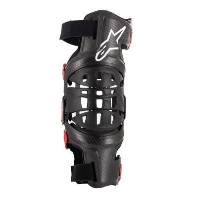 Genouillère Alpinestar Bionic-10 Carbon côté droit noir/rouge