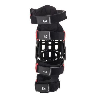 Genouillère Alpinestar Bionic-10 Carbon côté gauche noir/rouge