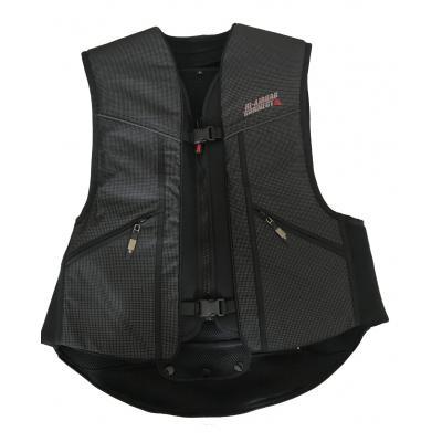 Gilet airbag Hi-Airbag Connect noir réfléchissant