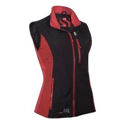 Gilet chauffant sans manche Keis B501W noir/rouge pour femme