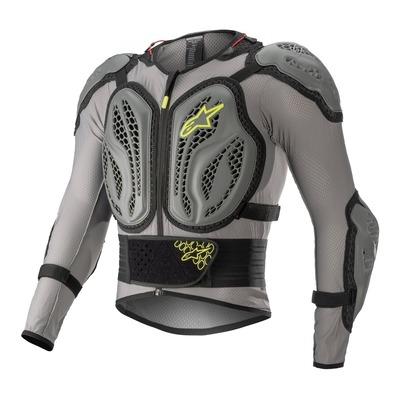 Gilet de protection cross Alpinestars Bionic Action dark gris/ash gris/jaune fluo