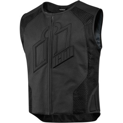 Gilet en cuir Icon Hypersport Prime noir