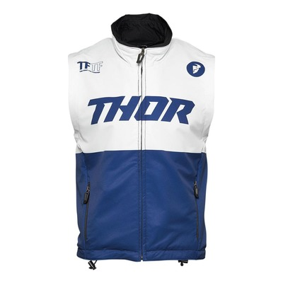 Gilet enduro Thor Warm Up vest navy/blanc