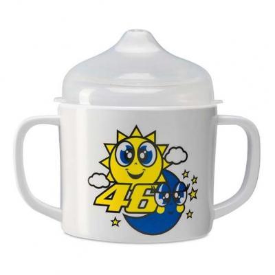 Gobelet bébé VR46 Baby cup Sun & Moon blanc