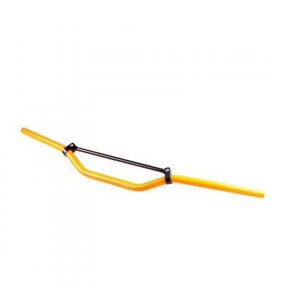 Guidon cross Tun'R alu orange fluo avec barre noir