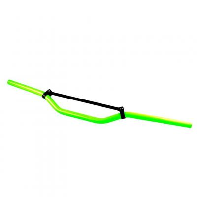 Guidon cross Tun'R alu vert fluo avec barre noir