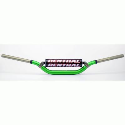 Guidon MX Renthal Twinwall vert cintrage Villopoto / Stewart Ø28,6 mm