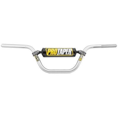 Guidon Pro Taper Pit-Bike Seven Eighths XR50/CRF50 Ø22 mm silver avec barre de renfort