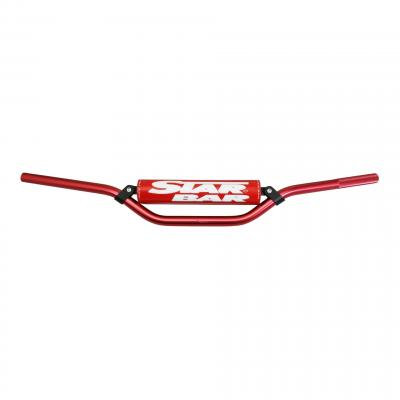 Guidon Star Bar cross alu Ø22,2mm rouge