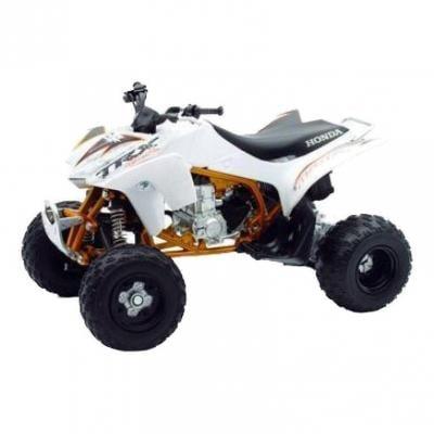 Honda quad 450 TRX 2009 1:12 NewRay blanc/or