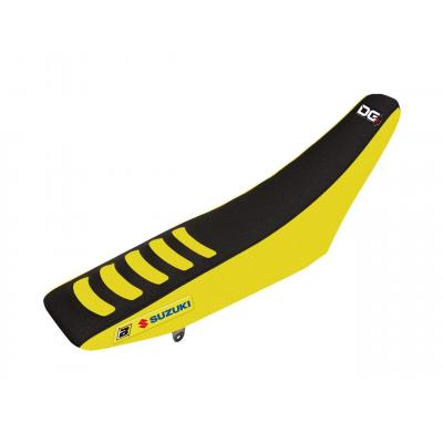 Housse de selle Blackbird Double Grip 3 Suzuki 85 RM 02-18 jaune/noir