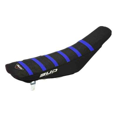 Housse de selle noire/bandes bleu Bud Racing Full Traction pour Husqvarna TC 50 17-22