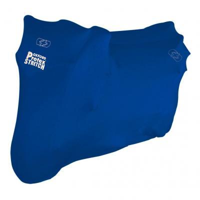 Housse moto intérieur Oxford Protex stretch-fit bleu