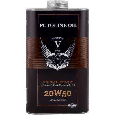 Huile moteur 100% synthétique Putoline Genuine V-Twin Motorcycle Oil 20W50 (1 Litre)
