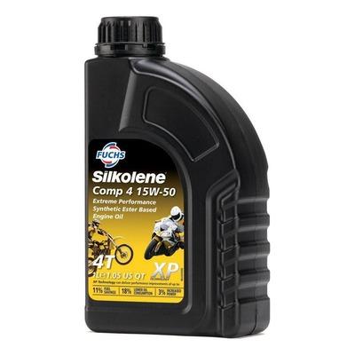 Huile moteur Silkolene Comp 4 15W50 XP 4 temps 1L