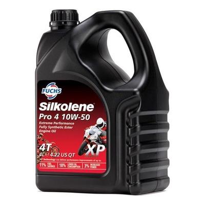 Huile moteur Silkolene Pro 4 10W50 XP 4 temps 4L