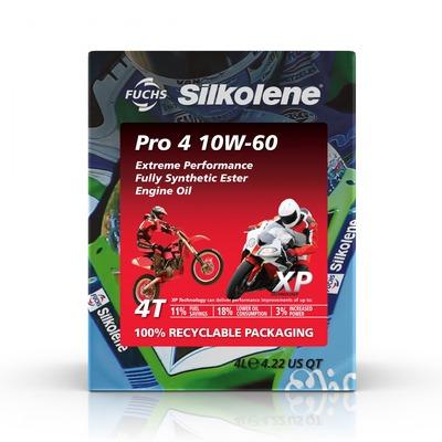 Huile moteur Silkolene Pro 4 10W60 XP 4 temps cube 4L