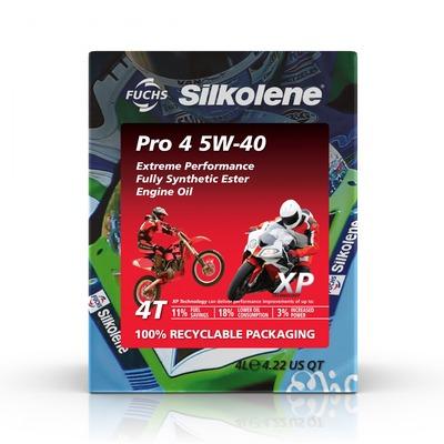 Huile moteur Silkolene Pro 4 5W40 XP 4 temps cube 4L