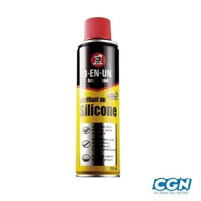Huile Silicone 3 en 1 aérosol 250ml
