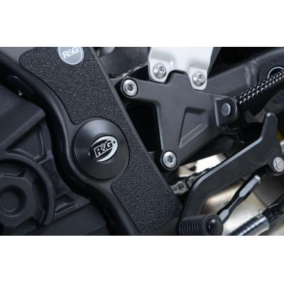 Insert de cadre gauche R&G Racing noir Kawasaki ZX-10R 08-15