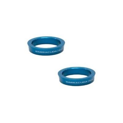 Inserts aluminium bleu pour repose-pieds Barracuda