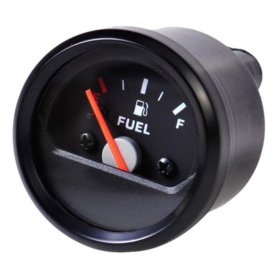 Jauge carburant universelle noire à aiguille Brazoline