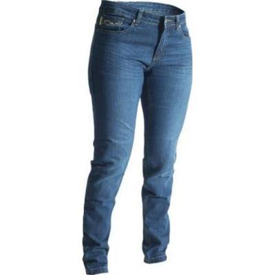 Jean moto femme RST Aramid straight leg bleu foncé