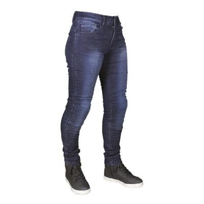 Jeans moto femme Harisson Bonnie bleu
