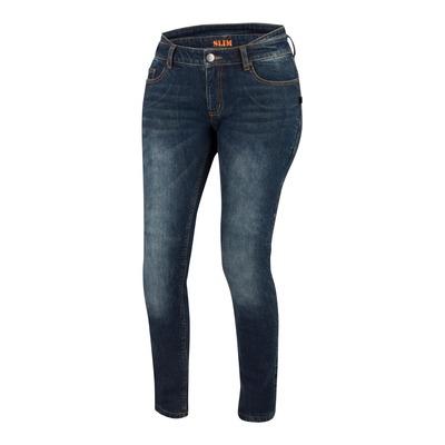 Jeans moto femme Bering Patricia bleu