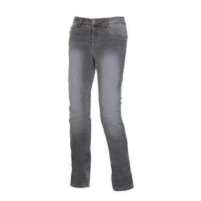 Jeans moto femme Esquad Lina gris denim