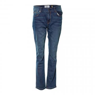 Jeans moto femme Helstons Parade bleu