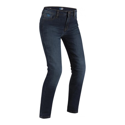 Jeans moto femme PMJ Café Racer Donna bleu