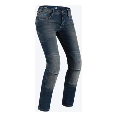 Jeans moto femme PMJ New Florida bleu
