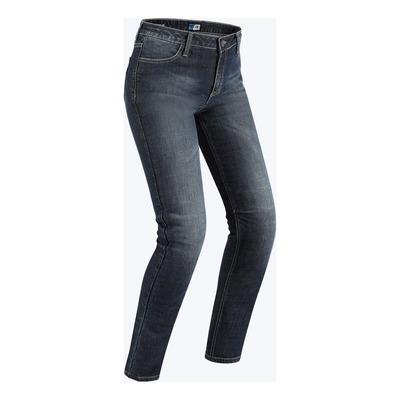Jeans moto femme PMJ New Rider bleu