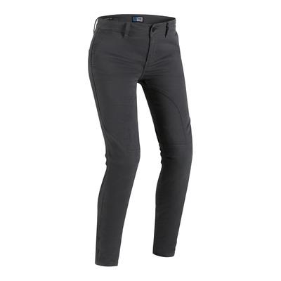 Jeans moto femme PMJ Santiago gris