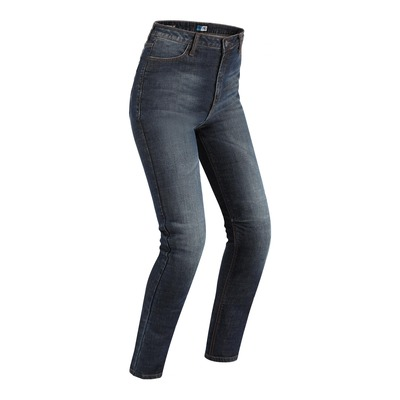 Jeans moto femme PMJ Sara indigo