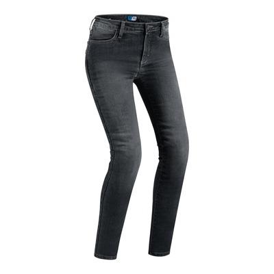Jeans moto femme PMJ Skinny noir