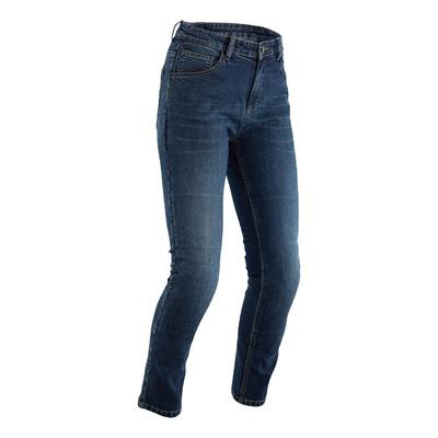 Jeans moto femme RST Tapered-Fit bleu