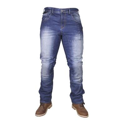 Jeans moto Harisson Newton bleu délavé