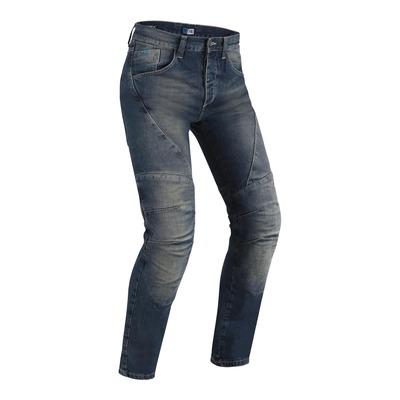 Jeans moto PMJ Dallas bleu