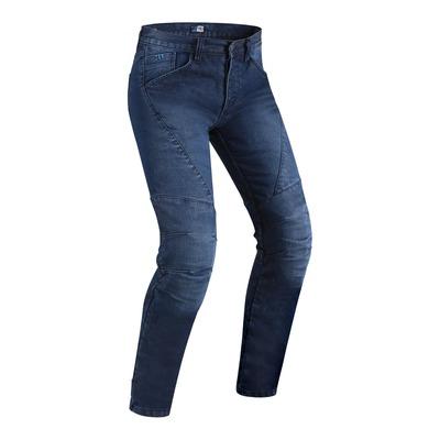 Jeans moto PMJ Titanium bleu