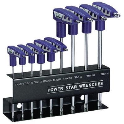 Jeu de clés Torx en T avec support 9 pièces