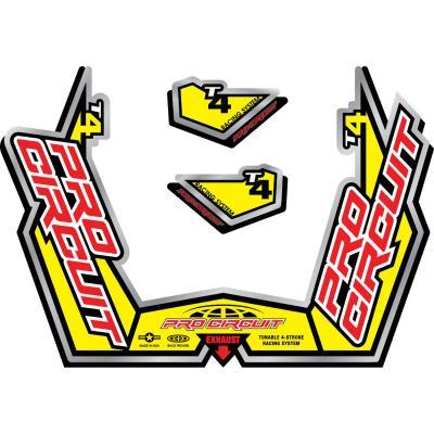 Kit autocollant Pro Circuit pour échappement Ti-4GP 09-10 jaune