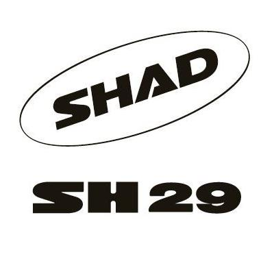 Kit autocollant Shad pour top case SH29 blanc